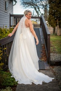 Back of the Bride's Dress