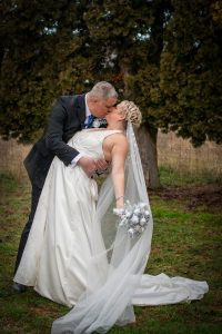 The dip - Groom dips the bride and kisses her