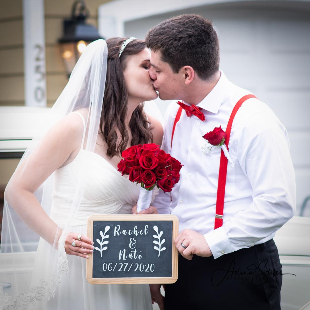 Rachel & Nate's Wedding - First Kiss